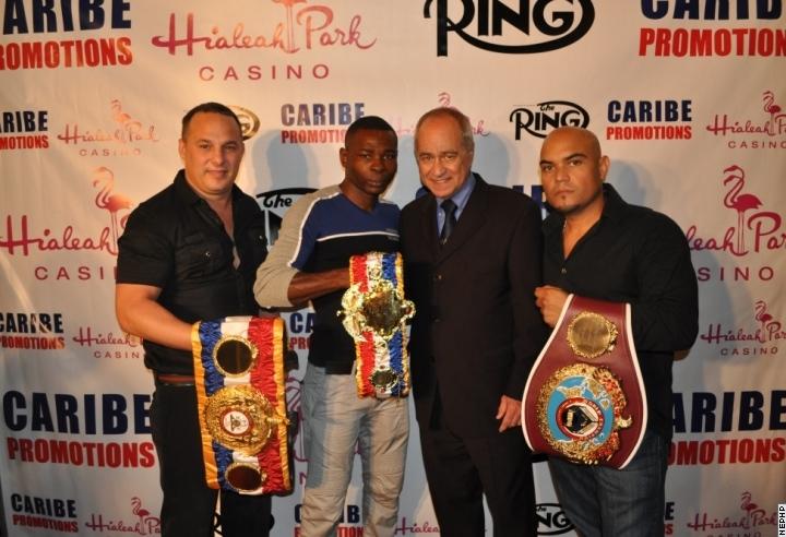Boris_Arencibia_Guillermo_Rigondeaux_Chuck_Giampa_Louis_Fonseca_awarded_Ring_Magazine_P4P_Belt_Pic_1