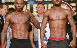 Взвешивание участников вечера бокса в Атлантик-Сити