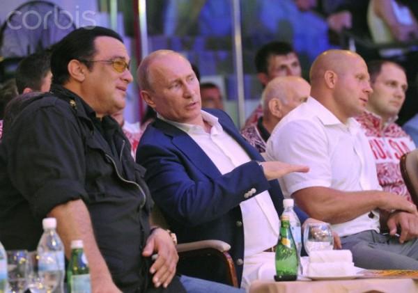 Russian President Vladimir Putin at MMA tournament in Sochi