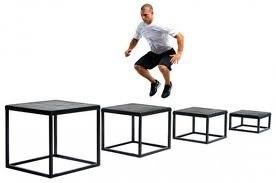 Упражнение для ног - прыжки на бокс