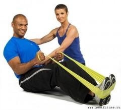 Упражнения для ног с эспандером
