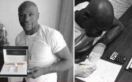 Флойд Мэйвезер подписал контракт на бой с Пакьяо пером, стоимостью 4000 долларов
