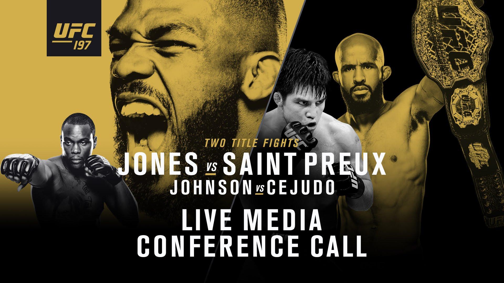 (ПРЕВЬЮ) UFC 197: Джон Джонс - Овинс Сент-Прю, Деметриус Джонсон - Генри Сехудо, Энтони Петтис - Эдсон Барбоза