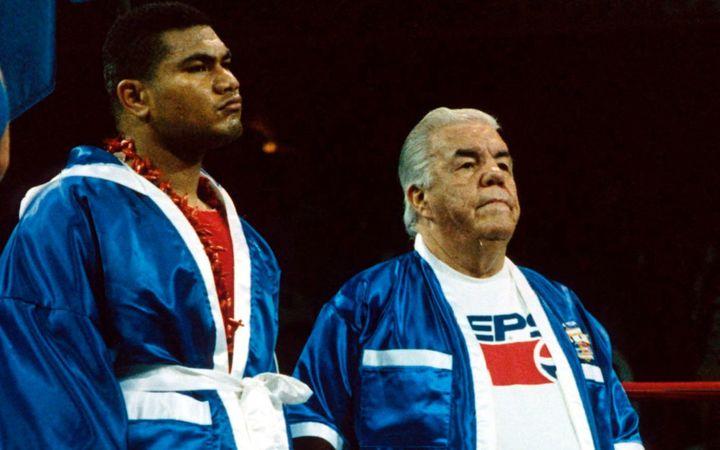 Туа и тренер Лу Дува (1992)