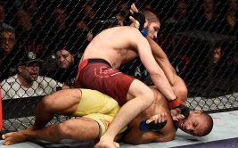 Результат и видео боя Хабиб Нурмагомедов - Эдсон Барбоза. UFC 219