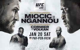 Результаты взвешивания к UFC 220