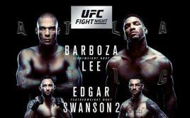 Результаты взвешивания UFC Fight Night 128: Барбоза — Ли