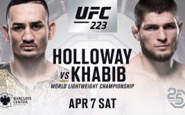 Бой Хабиб Нурмагомедов - Макс Холлоуэй, UFC 223