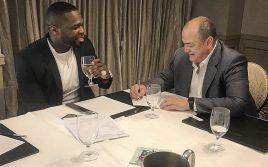 50 cent провел деловую встречу с главой Bellator Скоттом Кокером