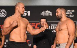 Смотреть онлайн бой Джуниор Дос Сантос - Благой Иванов. UFC Fight Night 133