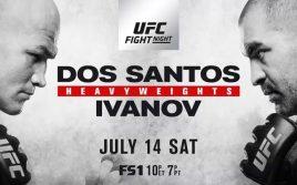 Результаты турнира UFC Fight Night 133: Дос Сантос — Иванов