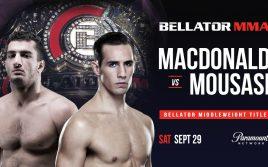 Результаты турнира Bellator 206: Мусаси — Макдональд