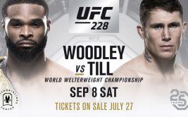Результаты турнира UFC 228 «Вудли - Тилл»