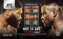 Смотреть онлайн UFC Fight Night 141: Сергей Павлович - Алистар Оверим, Нганну - Блейдс 2
