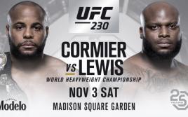Результаты взвешивания к UFC 230: Кормье — Льюис