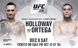 Смотреть онлайн UFC 231: Макс Холлоуэй - Брайан Ортега, Шевченко - Енджейчик. Прямая трансляция