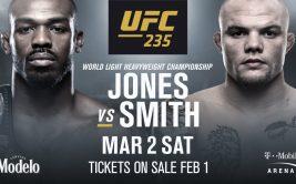 Где и когда смотреть онлайн UFC 235: Джон Джонс - Энтони Смит. Прямая трансляция турнира