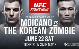 Результаты турнира UFC Fight Night 154: Мойкано — Корейский Зомби