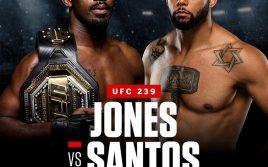 Все результаты турнира UFC 239: Джонс — Сантос
