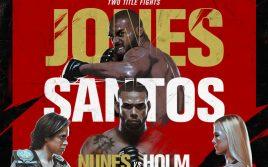 Результаты взвешивания UFC 239: Джонс — Сантос/ Нуньес — Холм