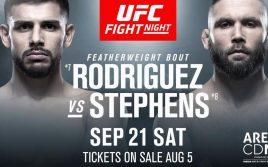 Результаты турнира UFC Fight Night 159: Родригес — Стивенс