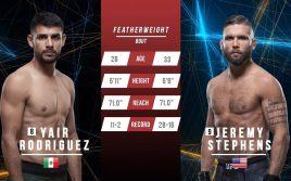 Яир Родригес — Джереми Стивенс, факты перед UFC