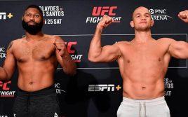 Результаты турнира UFC Fight Night 166: Дос Сантос — Блейдс