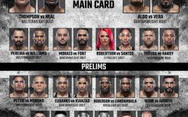 Результаты турнира UFC Vegas 17: Томпсон — Нил/ Альдо — Вера