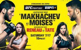 Результаты турнира UFC on ESPN 26: Махачев — Мойзес