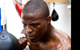 Boxer Kid Chocolate training at the Wild Card Boxing Gym