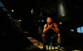 Former Lightweight, Welterweight, and Junior Middleweight boxing world champion Shane Mosley, poses for a portrait at Chelsea Piers Gym on March 17, 2006 in New York City, New York. Photo by Al Bello/Getty Images. *** Local Caption *** Shane Mosley