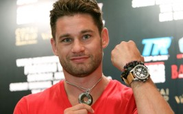 "Aug. 26, 2014, Shanghai, China   --- ""DAY TWO - POWER STONES"" ---   New York's undefeated (20-0) WBO Jr. Welterweight champion Chris Algieri never walks alone - he wears his precious stones for power, strength, wisdom and to ward off bad vibes. Algieri is on 'Day Two' of his worldwide tour with superstar Manny Pacquiao.      Pacquiao  and Algieri , along with their respective trainers Freddie Roach and Tim Lane, promoters Bob Arum, Joe DeGuardia and Artie Pelullo, and Ed Tracy, President and CEO of Sands China Ltd.,  are on a 27,273-Mile Media Tour, that began on Monday, August 25 at The Venetian Macao. The 12-day tour includes press conferences or public and private appearances scheduled for Macau, Shanghai, San Francisco, Las Vegas, Los Angeles and New York.     Promoted by Top Rank® and Sands China Ltd., in association with MP Promotions, Joe DeGuardia's Star Boxing, Banner Promotions and Tecate, the Pacquiao vs. Algieri world welterweight championship event will take place Saturday, November 22, at the Cotai Arena in The Venetian Macao Resort in Macau,China.   It will be produced and distributed live by HBO Pay-Per-View beginning at 9:00 p.m. ET / 6:00 p.m. PT.   --- Photo Credit : Chris Farina - Top Rank (no other credit allowed) copyright 2014"