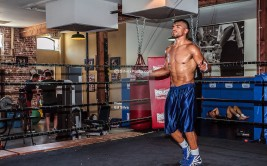 LOS ANGELES - JUNE 20: Former World Champion Victor 'Vicious' Ortiz (29-3-2,22 KO's) of Ventura, Calif at Media Workout held at the Fortune Boxing Gym in Los Angeles,CA. All fees must be ageed prior to publication, Byline and/or web usage link must read PHOTO © Eduardo E. Silva/SILVEX.PHOTOSHELTER.COM Failure to byline correctly will incur double the agreed fee.