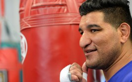 July 7, 2015: CHRIS ARREOLA photographed at the media workout in Riverside, CA. Photo by Jayne Kamin-Oncea