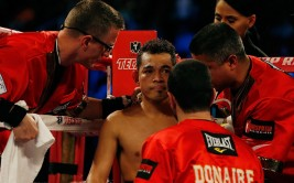HOUSTON, TX - DECEMBER 15:  Nonito Donaire of the Philippines waits in his corner before his WBO World Super Bantamweight bout with Jorge Arce of Mexico at the Toyota Center on December 15, 2012 in Houston, Texas.  (Photo by Scott Halleran/Getty Images)