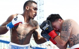 Photos of Jermall Charlo and Hector Munoz during their Showtime Boxing bout in Carson, CA at the Stub Hub Center on April 26, 2014.
