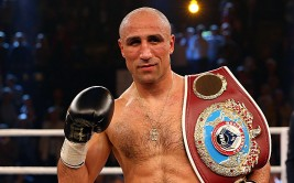 KIEL, GERMANY - SEPTEMBER 27:  Arthur Abraham (R) of Germany celebrates after the WBO World Championship Super Middleweight title fight at Sparkassen Arena on September 27, 2014 in Kiel, Germany.  (Photo by Martin Rose/Bongarts/Getty Images)