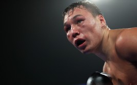 BROOMFIELD, CO - OCTOBER 19:  Ruslan Provodnikov of Russia works against Mike Alvarado as Provodnikov won their bout with a TKO in the 10th round to claim the WBO Junior Welterweight Title at the 1stBank Center on October 19, 2013 in Broomfield, Colorado.  (Photo by Doug Pensinger/Getty Images)